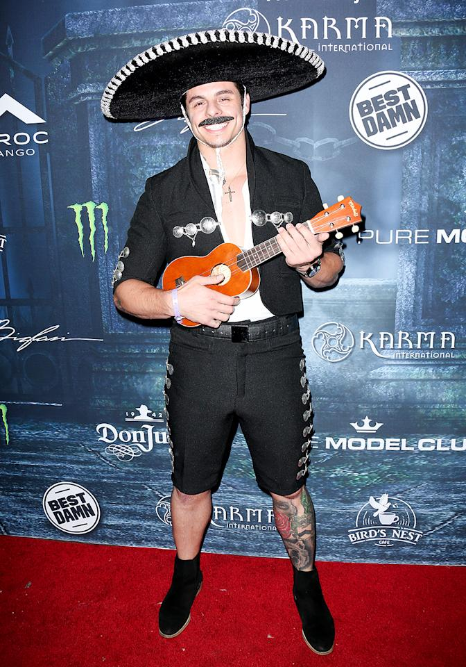 <p>Jennifer Lopez was a no-show, but her ex-boyfriend was ready to party at the <i>Maxim</i> fiesta in a mariachi costume. (Photo: Paul Archuleta/FilmMagic) </p>
