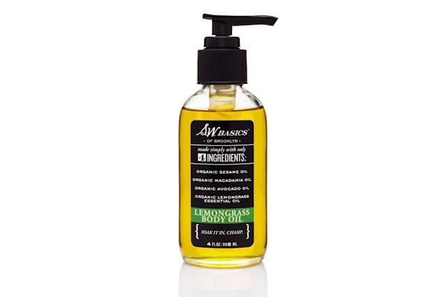 "<p>A go-to for <em>truly</em> natural and organic skin care, we know exactly what we're getting when it comes to S.W. Basics body oils. And this lemongrass version of the company's cult classic leaves behind a clean, citrusy aroma. $20, <a href=""https://store.swbasicsofbk.com/products/body-oil?variant=1206567792"" rel=""nofollow noopener"" target=""_blank"" data-ylk=""slk:store.swbasicsofbk.com"" class=""link rapid-noclick-resp"">store.swbasicsofbk.com</a> </p>"
