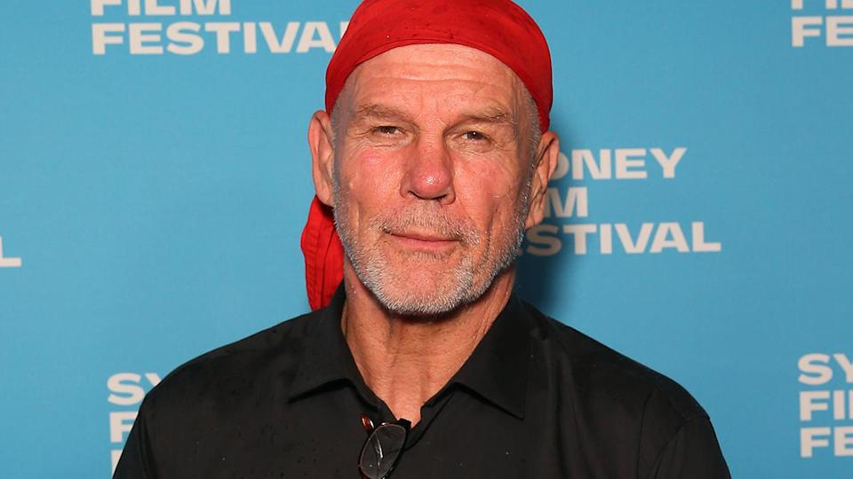 Peter FitzSimons, pictured here at the world premiere of The Final Quarter in 2019.