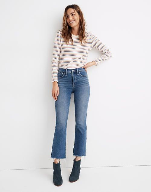 """<p>""""After going all summer without trying on a single pair of jeans, I was actually excited to bust out my <span>Madewell Cali Demi-Boot Jeans</span> ($135). They're my all-time favorite pair because they're extremely form-fitting and hold you in, but they also have a bit of stretch. I don't mind lounging in them, commuting in them, walking in them - you name it."""" - Jessica Harrington, associate editor, Beauty</p>"""