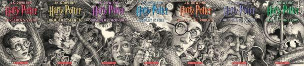 PHOTO: Scholastic's new book covers for J.K. Rowling's Harry Potter series feature thrilling moments and beloved characters from across the series captured in art by Brian Selznick. (Brian Selznick (c) 2018 by Scholastic Inc.)