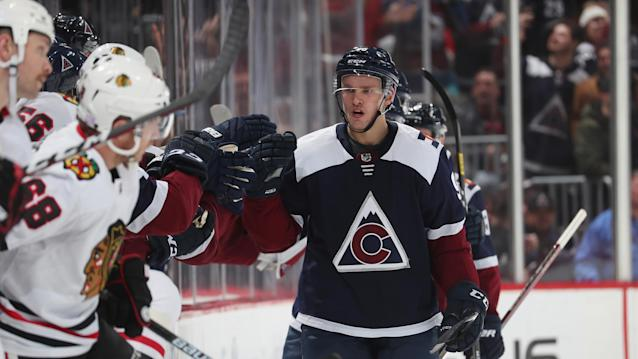 Colorado Avalanche winger Mikko Rantanen made his presence known in his first game back from injury. (Photo by Michael Martin/NHLI via Getty Images)