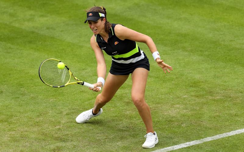 Johanna Konta was quickly back into her stride in BIrmingham on Monday - PA