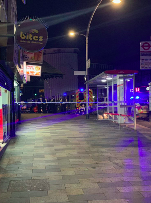 <em>Emergency services at the scene of the stabbing near Ilford station (Twitter/@stanikzai_19/PA)</em>
