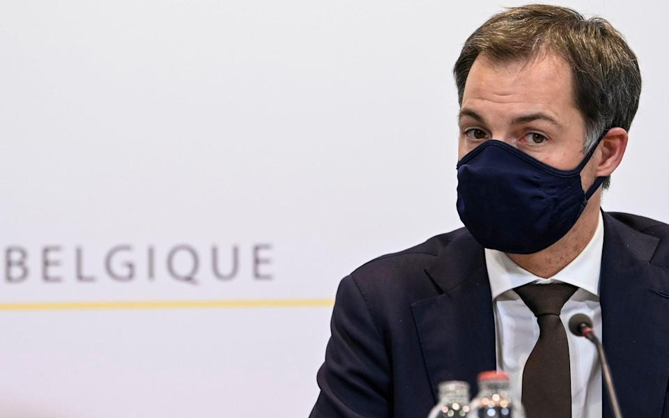 Alexander De Croo, the Belgian prime minister, has imposed a second lockdown on his country - Philip Reynaers/Pool via AP