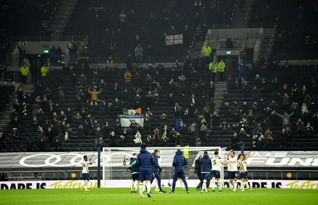 Two thousand Tottenham fans attended last December's north London derby