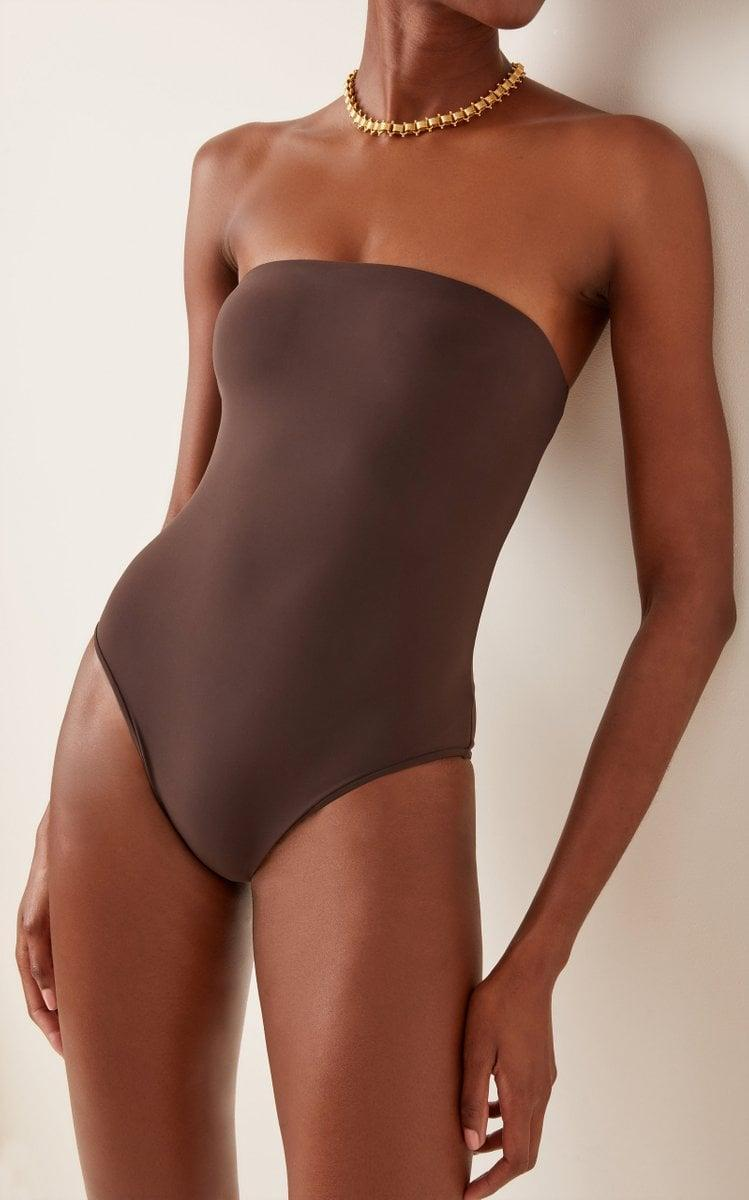 <p>I love the modern elegance of this <span>Anemos The Ritts Strapless One-Piece Swimsuit</span> ($240).</p>