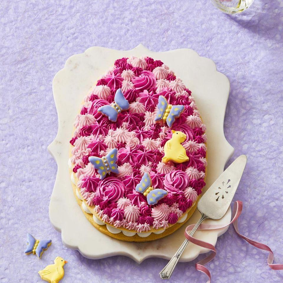 "<p>Why serve cake when you can serve two giant cookies, sandwiched with buttercream and topped with frosting?</p><p><em><a href=""https://www.womansday.com/food-recipes/a31980238/easter-egg-cookie-recipe/"" rel=""nofollow noopener"" target=""_blank"" data-ylk=""slk:Get the recipe from Woman's Day »"" class=""link rapid-noclick-resp"">Get the recipe from Woman's Day »</a></em></p>"