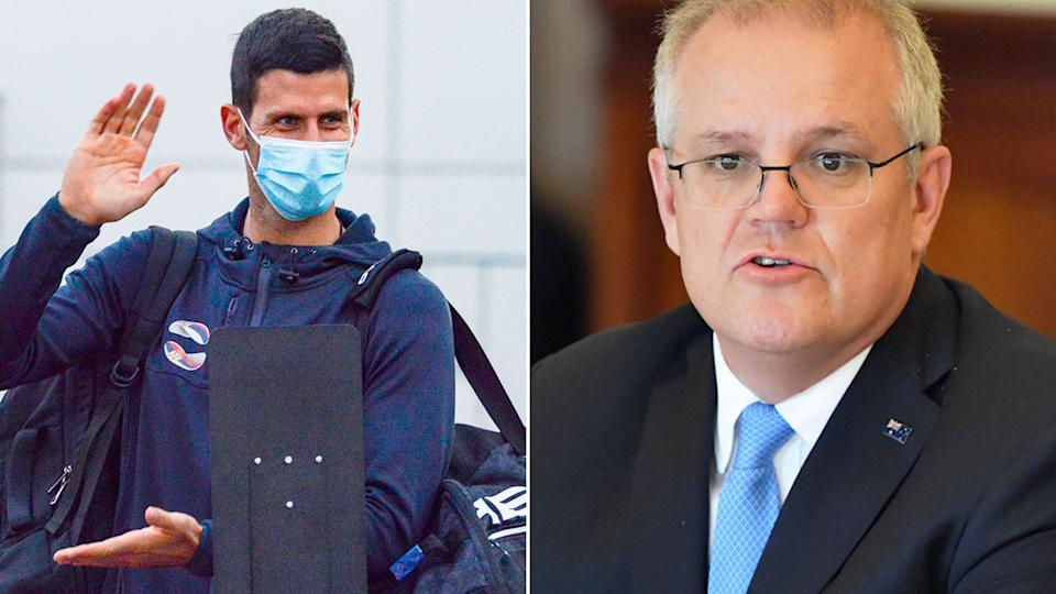 Scott Morrison has denied Australian Open players are being given preference over Aussie citizens. Pic: Getty