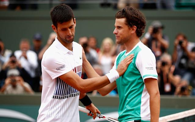 <span>Thiem bagelled Djokovic in the final set of his quarter-final win over the Serb</span> <span>Credit: Getty Images </span>