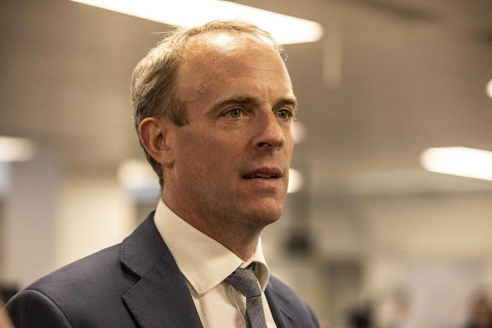 Foreign Secretary Dominic Raab (Jeff Gilbert/Daily Telegraph) (PA Wire)