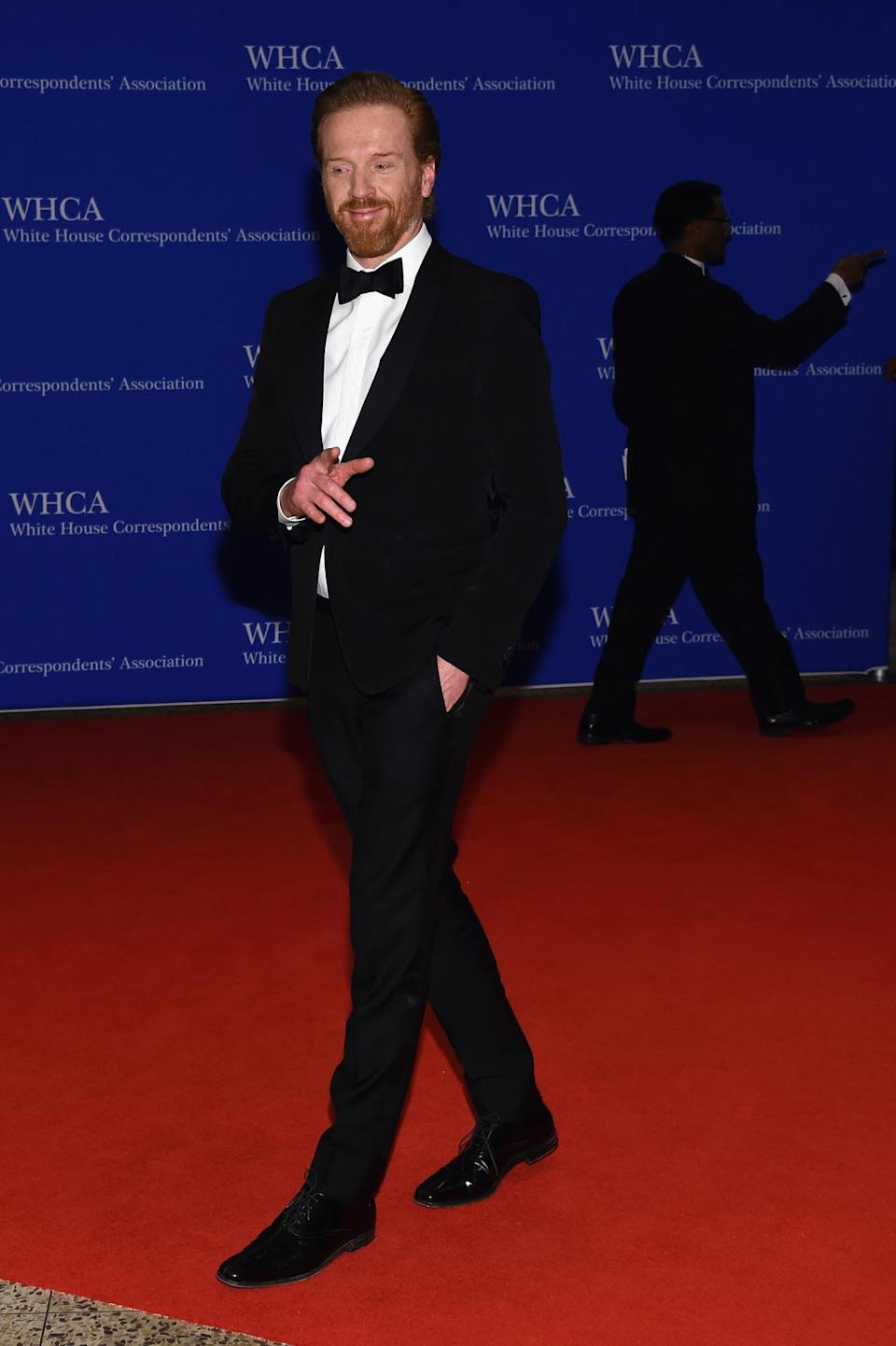 <p>Actor Damian Lewis attends the 102nd White House Correspondents' Dinner, April 30. <i>(Photo: Larry Busacca/Getty Images)</i></p>