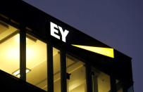 FILE PHOTO: Logo of Ernst & Young is seen at a branch in Zurich