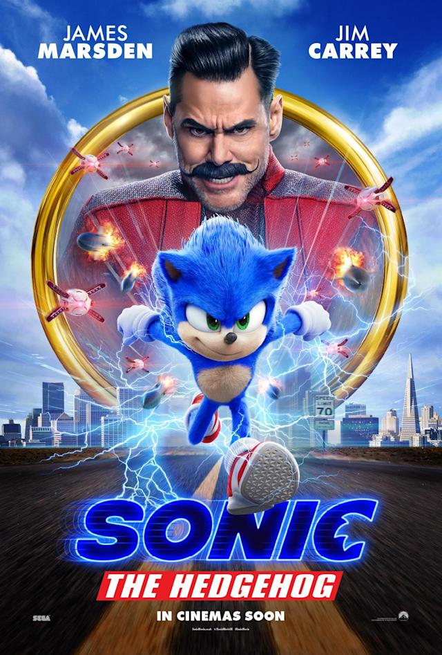 Paramount launched a brand new poster for Sonic The Hedgehog featuring the character redesign. (Paramount)