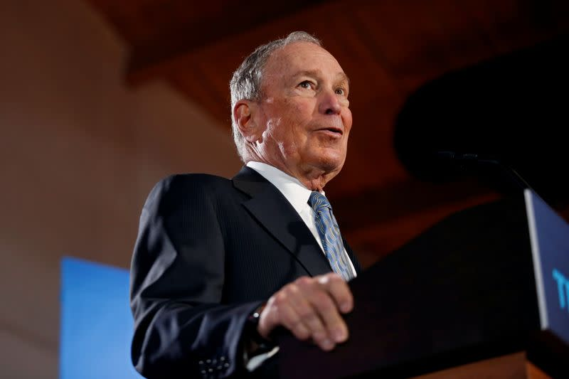 Democratic presidential candidate Michael Bloomberg attend a campaign event in Chattanooga