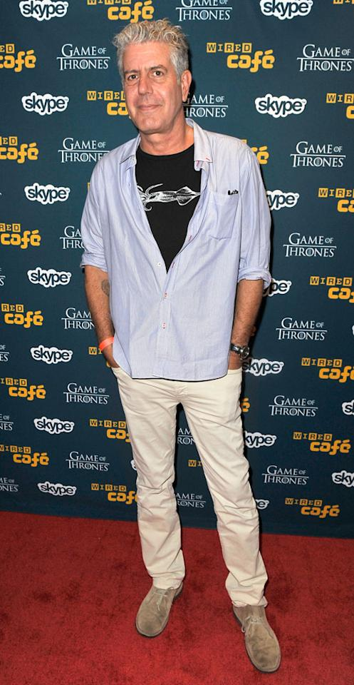 Anthony Bourdain attends WIRED Cafe at Comic-Con held at Palm Terrace at the Omni Hotel on July 12, 2012 in San Diego, California.