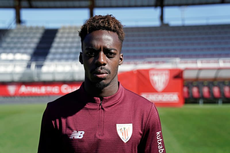 FILE PHOTO: Athletic Bilbao player Inaki Williams at Lezama training ground, near Bilbao
