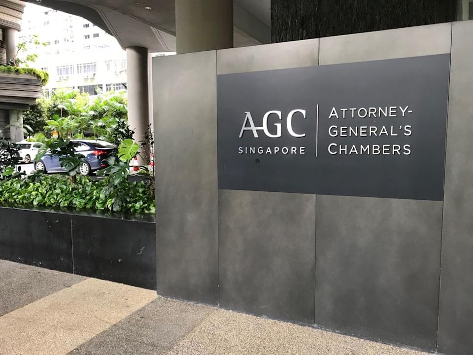 Attorney-General's Chambers (FILE PHOTO: Yahoo News Singapore)