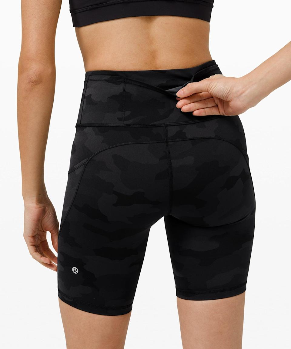 <p>These <span>Lululemon Fast And Free Shorts</span> ($68) are great for sweaty runs outside, and they have both back and side pockets.</p>