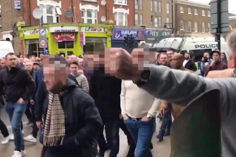 Violence: The incident happened on High Road in Tottenham. (Sacha Twitter)