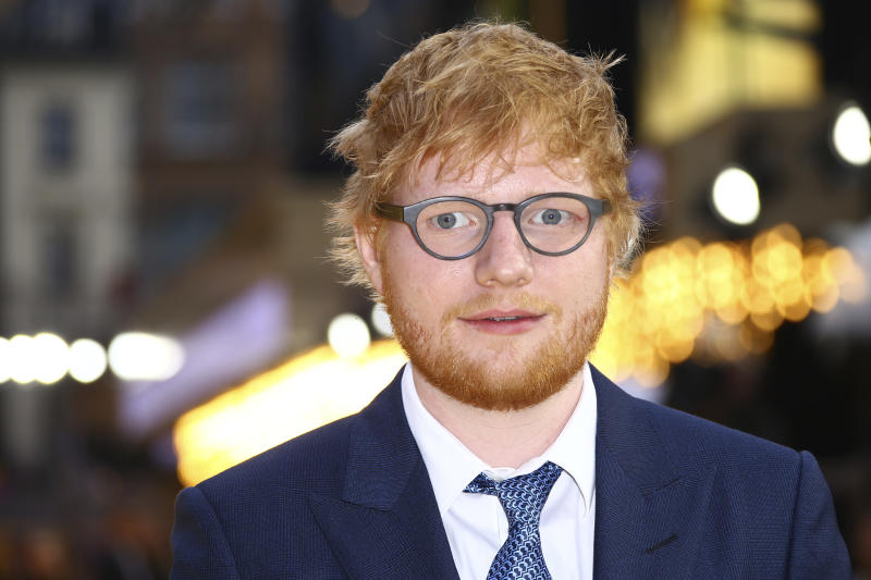 Singer Ed Sheeran poses for photographers upon arrival at the premiere for 'Yesterday' in London, Tuesday, June 18, 2019. (Photo by Joel C Ryan/Invision/AP)