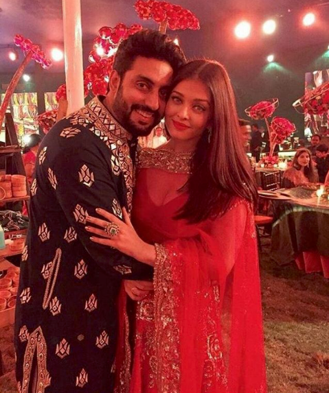 Aishwarya and her husband, Abhishek Bachchan in November 2017. Source: aishwaryaarai/Instagram