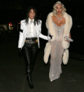 """<p>Kourt teamed up with sister Kim Kardashian to absolutely slay Halloween, as the duo channeled pop music legends Michael Jackson and Madonna at the 1991 Academy Awards. On Saturday, Kim took to Twitter to reveal her inspiration. """"My Halloween theme this year is ICONS! Paying homage to some of my faves!"""" <a href=""""https://twitter.com/KimKardashian/status/924483513134456834"""" rel=""""nofollow noopener"""" target=""""_blank"""" data-ylk=""""slk:she wrote"""" class=""""link rapid-noclick-resp"""">she wrote</a>. In addition to Madge, so far we've seen her as Cher and Aaliyah. (Photo: <a href=""""https://www.instagram.com/p/Ba2qaBgDLdD/?taken-by=kourtneykardash"""" rel=""""nofollow noopener"""" target=""""_blank"""" data-ylk=""""slk:Kourtney Kardashian via Instagram"""" class=""""link rapid-noclick-resp"""">Kourtney Kardashian via Instagram</a>) </p>"""