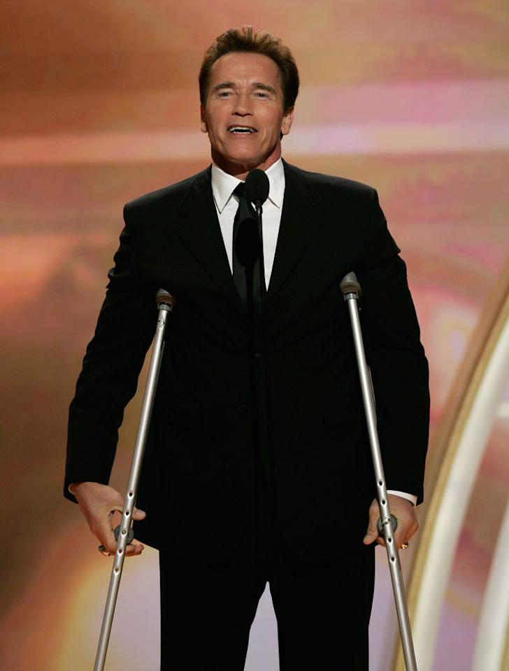 """Arnold Schwarzenegger closes out the night with the rustiest of quotes at <a href=""""/the-64th-annual-golden-globe-awards/show/40075"""">the 64th annual Golden Globe Awards</a>."""