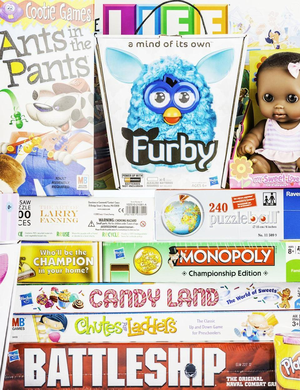 """<p>Add a charitable element to a holiday that often feels totally commercialized by """"adopting"""" a child through a local non-profit organization, like <a href=""""https://www.toysfortots.org/"""" rel=""""nofollow noopener"""" target=""""_blank"""" data-ylk=""""slk:Toys for Tots"""" class=""""link rapid-noclick-resp"""">Toys for Tots</a>. In most cases, the service will provide a small wish list to guide your shopping. Then, you simply wrap the gift and drop it off at a pre-determined location.</p>"""