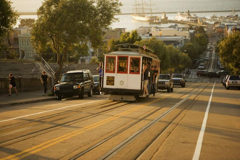 San Fran's iconic cable cars date back to 1873 and are now a huge tourist drawcard to the city. Photo: Getty