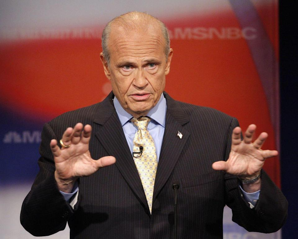 <p>Fred Thompson made his mark by appearing in films like <em>The Hunt for Red October</em>,<em> Die Hard II,</em> and <em>Cape Fear</em>. However, Thompson was best known for his recurring role as district attorney on <em>Law & Order. </em> In 1994, Thompson ran for a place in the US Senate as a Tennessee representative. After a successful campaign, Thompson was elected and held the position from 1994 to 2003<em>.</em></p>
