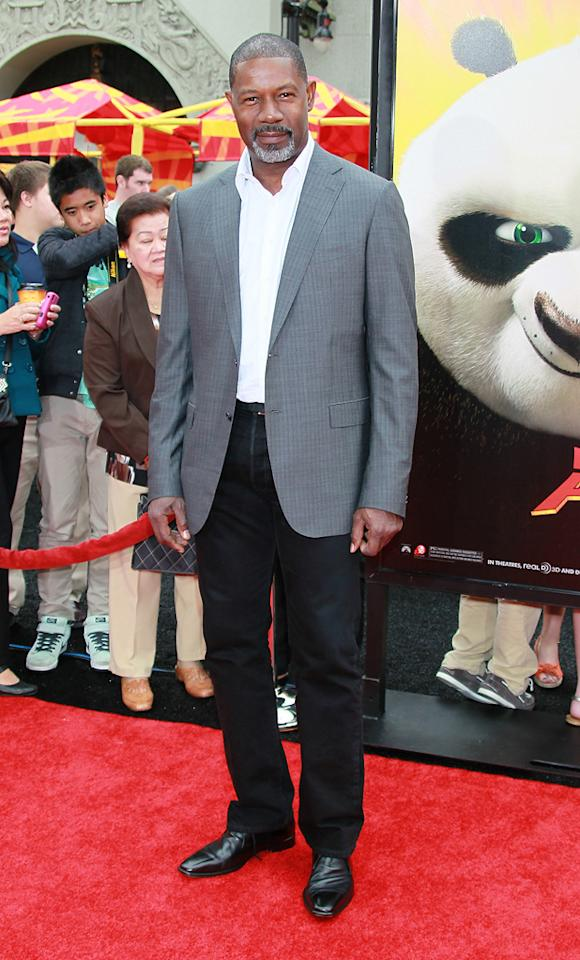 """<a href=""""http://movies.yahoo.com/movie/contributor/1800019599"""">Dennis Haysbert</a> attends the Los Angeles premiere of <a href=""""http://movies.yahoo.com/movie/1810090593/info"""">Kung Fu Panda 2</a> on May 22, 2011."""