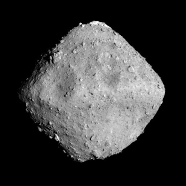 The Ryugu asteroid, around 300 million kilometres from Earth, is estimated to be between 100 million and one billion years old, and appears to have broken off from a parent body, according to observations from a Japanese probe that landed on the space rock (AFP Photo/Handout)