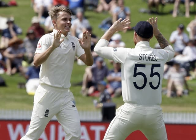 Sam Curran, left, led England with just six wickets in the series (Mark Baker/AP)