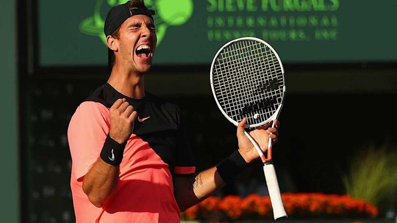 Kokkinakis defeats Federer in Miami. Pic: Getty