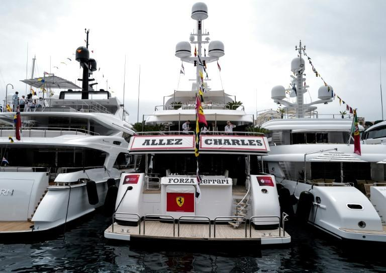 Leclerc had suppport on land, and sea, the occupants of this boat moored in Monaco's famous harbour leaving no room for doubt where their allegiance lay with a 'go Charles' banner