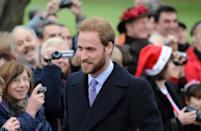 Who can forget Prince William's beard as he attended the Christmas day service at St. Mary Magdalene Church in 2008. (Samir Hussein/WireImage)