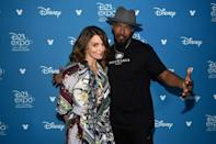 Jamie Foxx, pictured with Tina Fey at a 2019 Disney fan event in California, plays unassuming middle school music teacher Joe Gardner, who dreams of fame as a jazz pianist