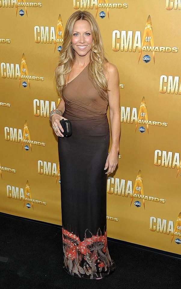 """Kid Rock's former flame Sheryl Crow, 48, put women half her age to shame in her ombre one-shoulder gown and gorgeous golden locks. Michael Loccisano/<a href=""""http://www.wireimage.com"""" target=""""new"""">WireImage.com</a> - November 10, 2010"""