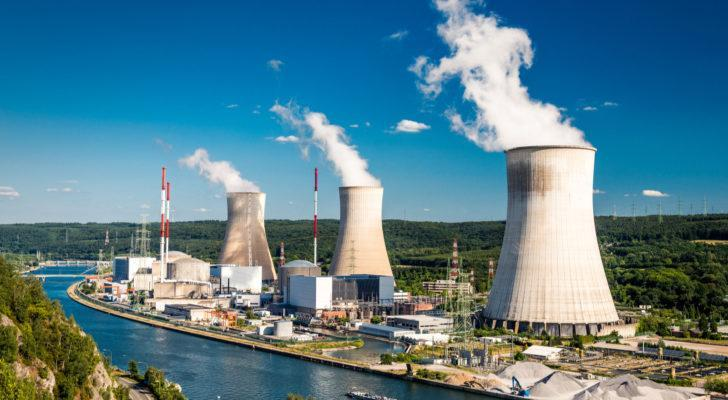clean energy stocks: a nuclear power plant in Belgium