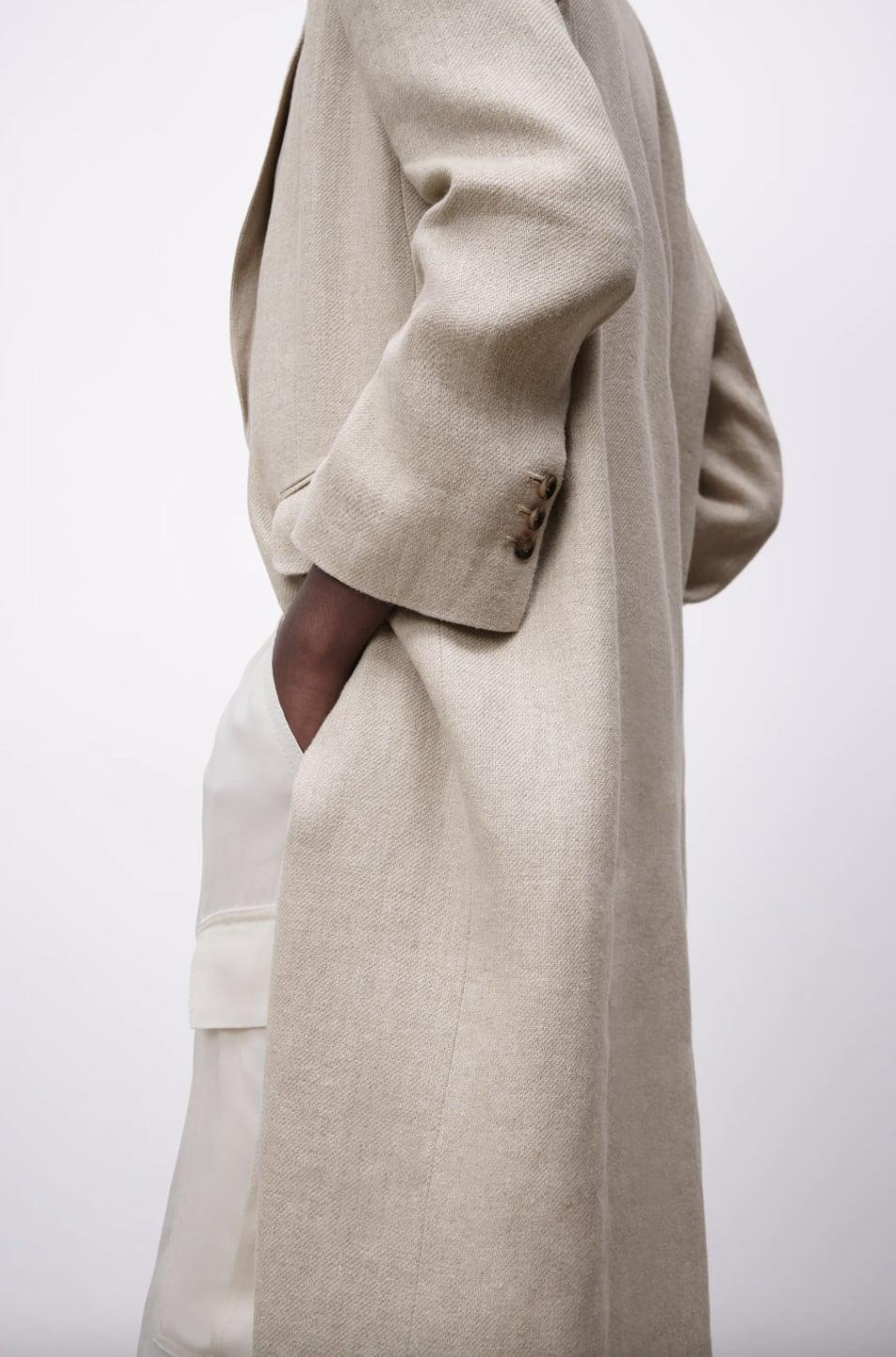 <p>This <span>Zara Linen Coat</span> ($129) is the perfect warm weather pick.</p>