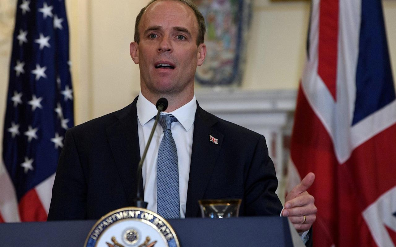 Dominic Raab urges US politicians to turn fire on Brussels over Brexit talks