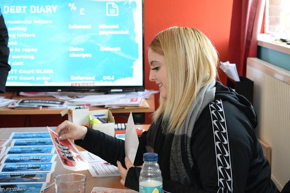 Emily, 18, learns how to prioritise her debts as she prepares to move into her own flat.