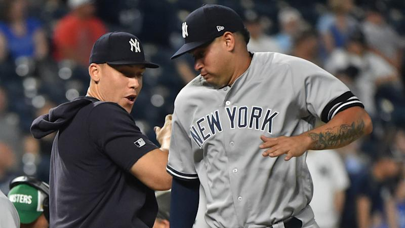 Yankees sweep double-header, remain atop AL East
