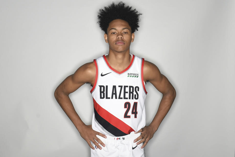 Anfernee Simons doesn't think water is wet. (AP Photo)