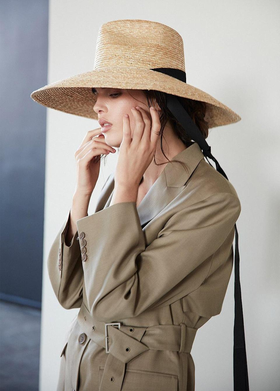 """<p>With kids running around, your own sunscreen application is easily forgotten on a summer day outdoors. Take a cue from Meghan, who loves oversized straw hats for sun protection (even when <a href=""""https://people.com/royals/meghan-markle-gloria-steinem-praise-prince-harry-feminist-father-archie/"""" rel=""""nofollow noopener"""" target=""""_blank"""" data-ylk=""""slk:speaking with Gloria Steinem"""" class=""""link rapid-noclick-resp"""">speaking with Gloria Steinem</a>!).</p> <p><strong>Buy It! Janessa Leone Serena hat, <a href=""""https://janessaleone.com/products/serena"""" rel=""""sponsored noopener"""" target=""""_blank"""" data-ylk=""""slk:$356"""" class=""""link rapid-noclick-resp"""">$356</a></strong></p> <p><strong>Get the Look!</strong><strong><br>Will and Bear River Sand, <a href=""""https://willandbear.com/collections/all/products/river-sand"""" rel=""""sponsored noopener"""" target=""""_blank"""" data-ylk=""""slk:$119"""" class=""""link rapid-noclick-resp"""">$119</a><br>Gigi Pip Camilla Fedora, <a href=""""https://click.linksynergy.com/deeplink?id=93xLBvPhAeE&mid=45070&murl=https%3A%2F%2Fwww.gigipip.com%2Fcollections%2Fstraw-hats-for-women%2Fproducts%2Fcamila-natural-straw-fedora-with-flat-brim&u1=PEO18RegalMothersDayGiftsInspiredbyRealLifeRoyalMomspetitsRoyGal12686606202105I"""" rel=""""sponsored noopener"""" target=""""_blank"""" data-ylk=""""slk:$84"""" class=""""link rapid-noclick-resp"""">$84</a><br></strong><strong>Asos Straw Boater, <a href=""""https://click.linksynergy.com/deeplink?id=93xLBvPhAeE&mid=35719&murl=https%3A%2F%2Fwww.asos.com%2Fus%2Fasos-design%2Fasos-design-two-tone-natural-straw-boater-with-undertie-and-size-adjuster%2Fprd%2F22277802&u1=PEO18RegalMothersDayGiftsInspiredbyRealLifeRoyalMomspetitsRoyGal12686606202105I"""" rel=""""sponsored noopener"""" target=""""_blank"""" data-ylk=""""slk:$23"""" class=""""link rapid-noclick-resp"""">$23</a></strong></p>"""