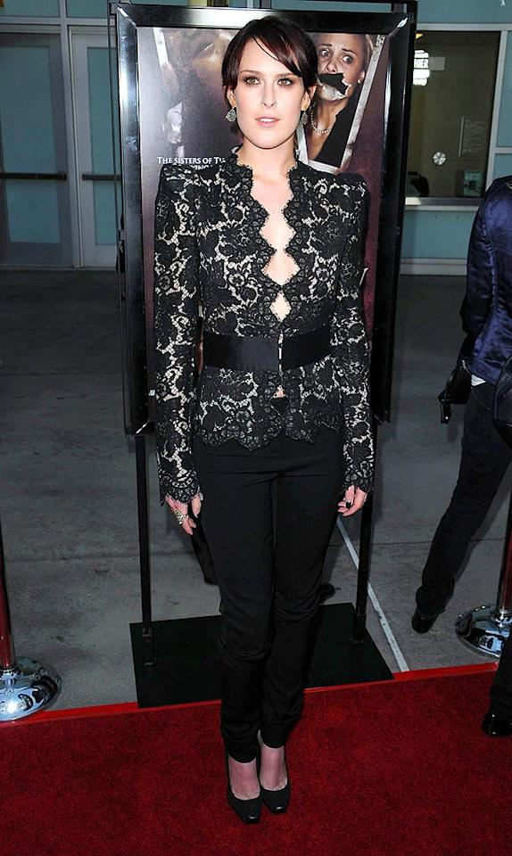 """What a relief! Rumer Willis arrived at the LA premiere of her new horror flick, """"Sorority Row,"""" in the first flattering outfit we've ever seen her in. Don't you think this Stella McCartney ensemble suits her well? Entertainment Press/<a href=""""http://www.splashnewsonline.com"""" target=""""new"""">Splash News</a> - September 3, 2009"""