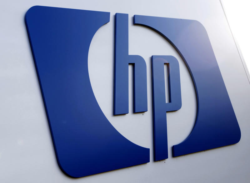 FILE - This Feb 21, 2012 file photo shows a Hewlett Packard logo in Frisco, Texas. Hewlett-Packard Co. showed signs of recovery in the first three months of the year as it strengthened its position as the world's largest maker of personal computers and gained back some of the business it had lost while weighing whether to dump its PC division. HP's stock jumped nearly 7 percent by early afternoon Thursday, April 12, 2012, the first trading day since research groups Gartner and IDC released their quarterly PC shipment estimates. (AP Photo/LM Otero, File)