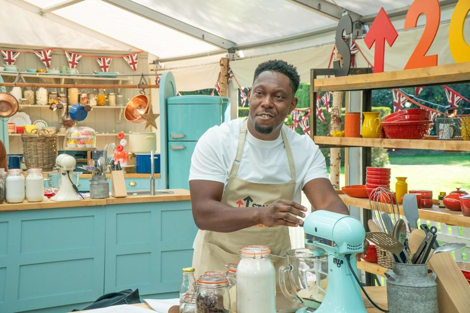 Dizzee Rascal took part in the celebrity edition of Bake Off (Channel 4/Love Productions/Mark Bourdillon/PA)