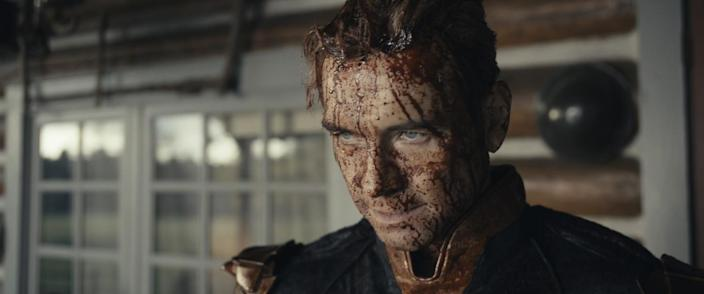 """Homelander (Antony Starr) is covered in blood in the Season 2 finale of """"The Boys."""""""